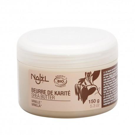 Unt de shea Najel cu aroma de vanilie-150 g