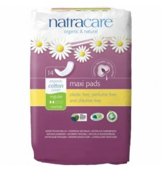 Absorbante bio Natracare maxi normal (2 picaturi), 14 buc