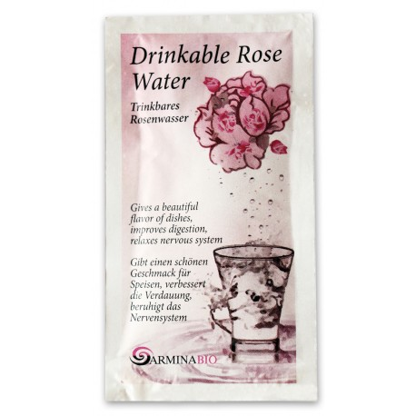 Apa de trandafir pentru baut in pliculete bio 10ml