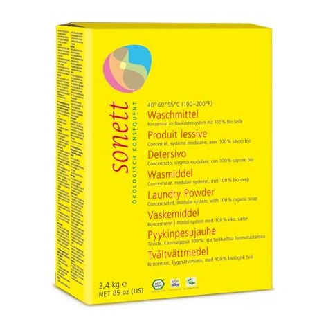 Detergent Ecologic Praf Pentru Rufe 2,4 kg Sonett