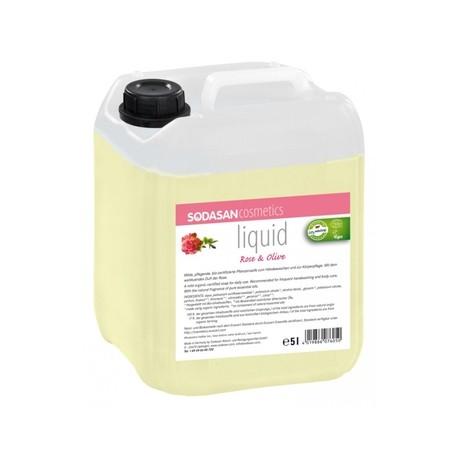 Săpun lichid si gel de dus bio din plante Trandafir-Măsline 5L