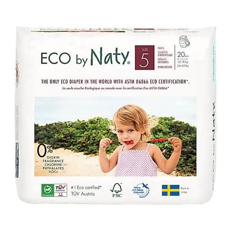 Chilotei ECO pentru antrenament la olita, nr. 5, 12-18kg, Naty, 20 buc.